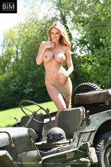 Rhian Sugden Goes Naked In The Military