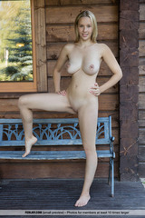 Agatha Nude On The Porch